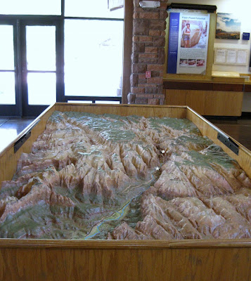 Relief map in Visitor Center Zion National Park Utah