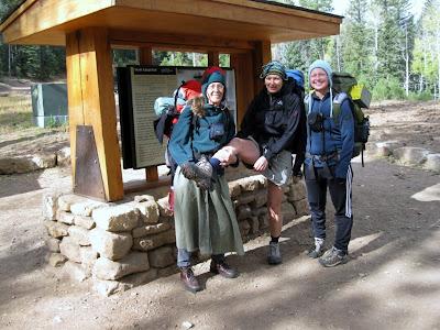 Gaelyn, Amy & Jan North Kaibab trail head North Rim Grand Canyon National Park Arizona
