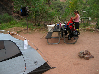 Bright Angel campsite Grand Canyon National Park Arizona