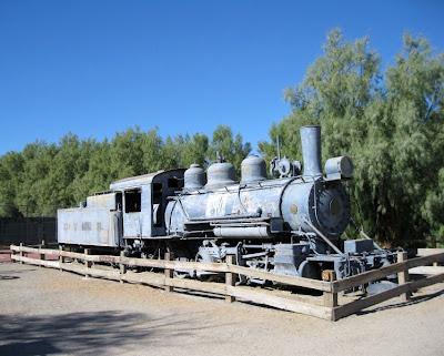 Old locomotive Furnace Creek Death Valley National Park California