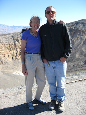 Gaelyn and Jeremy at Ubehebe Crater Death Valley National Park California
