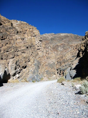 Entering Titus Canyon Death Valley National Park California
