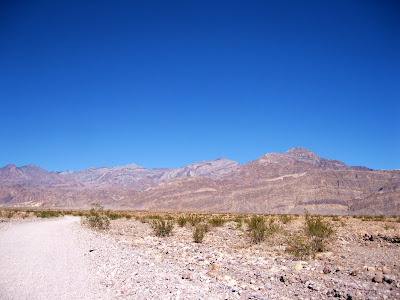 Road to the west end of Titus Canyon in Grapevine Mountains Death Valley National Park California