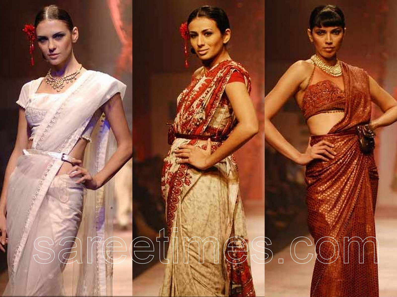 Check Out Models Displaying Designer JJ Valayas Designer Sarees