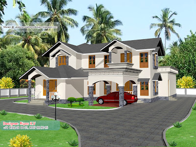 Kerala Home plan and elevation - 2850 Sq ft