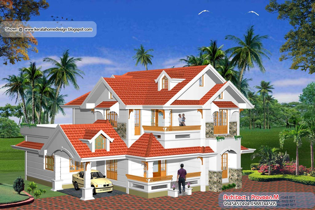 Front Elevation Of Villas In Kerala : Home plan and elevation sq ft kerala design