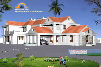 Beautiful Kerala Style Home Design Elevation