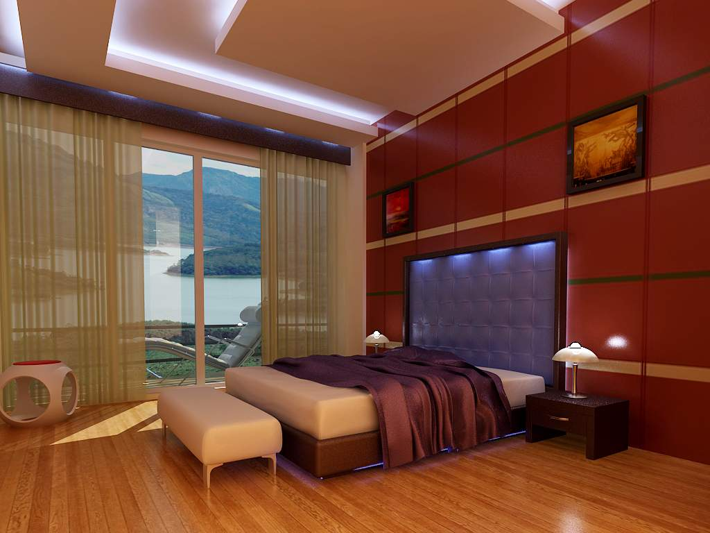 Beautiful 3d interior designs kerala home design and for Interior decorating vs design