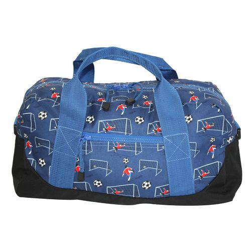 Boys personalized duffle bags. Always a favorite, cute dinosaur applique quilted cotton boys duffle bag. Spacious for camping, sleepovers and trips to grandmas.
