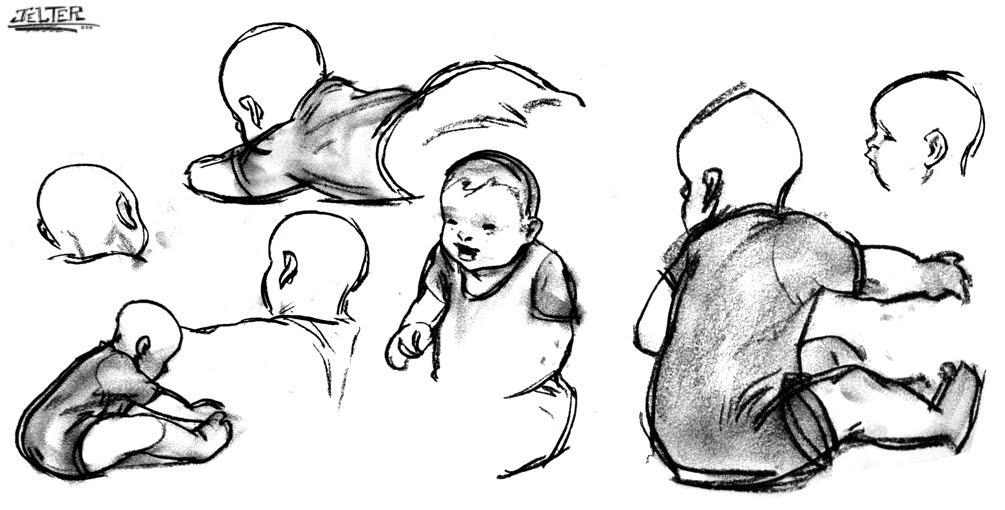Ben Jelter Art: Babies!