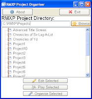 Project Organiser (RMXP) Fig. 1