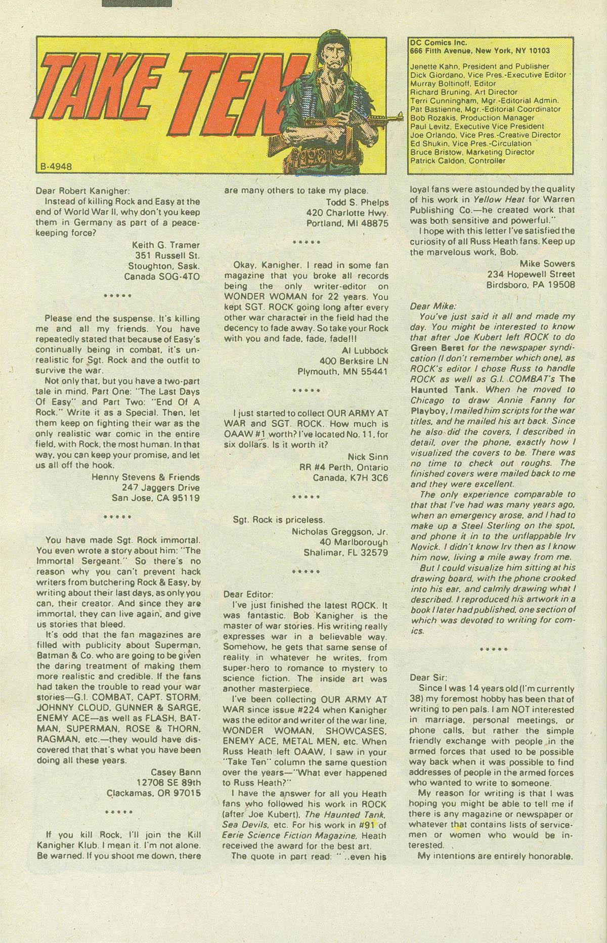 Read online Sgt. Rock comic -  Issue #415 - 31