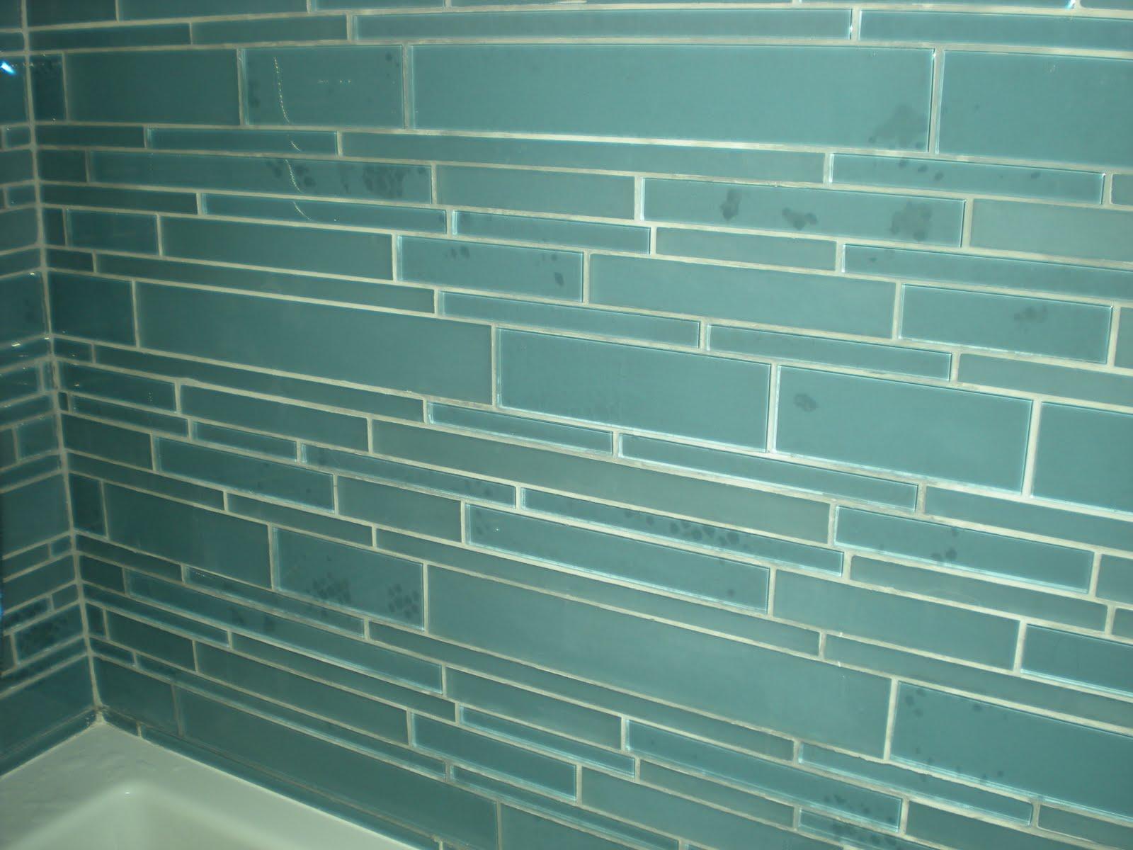 Fj Smith Contracting Corp Glass Tiled Bathroom