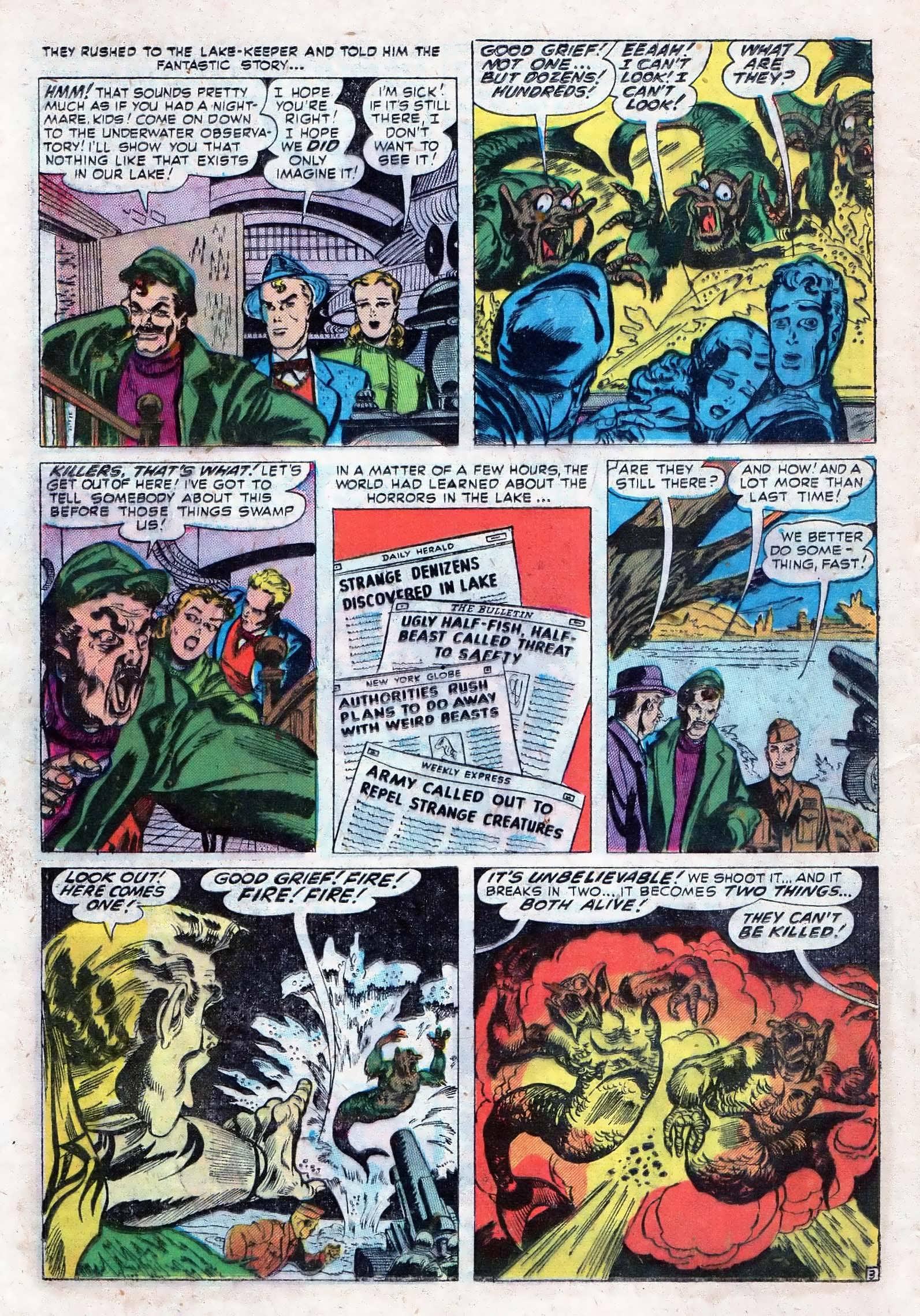 Read online Adventures into Weird Worlds comic -  Issue #10 - 11