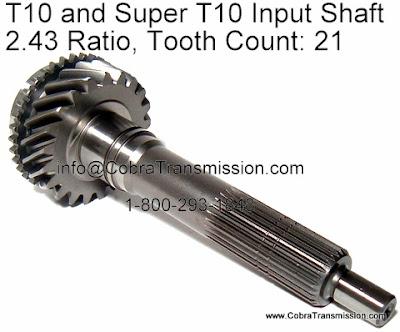 Cobra Transmission Parts 1-800-293-1848: T10 and Super T10