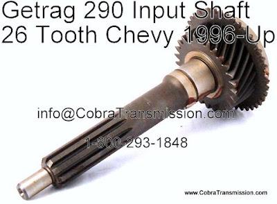 Cobra Transmission Parts 1-800-293-1848: Getrag 290, NV1500