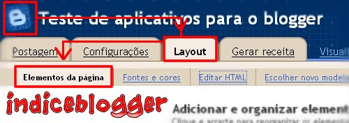 Editar Elementos da página