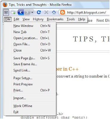 Firefox Extension: Packed Menu - Tips, Tricks and Tools