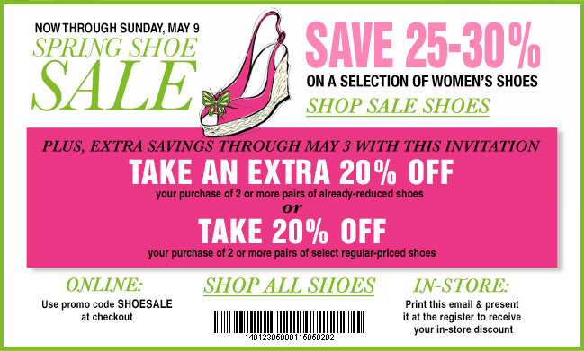 2a96943b77e Fashion Prospectress: Bloomingdale's 20% off 2 pairs of shoes