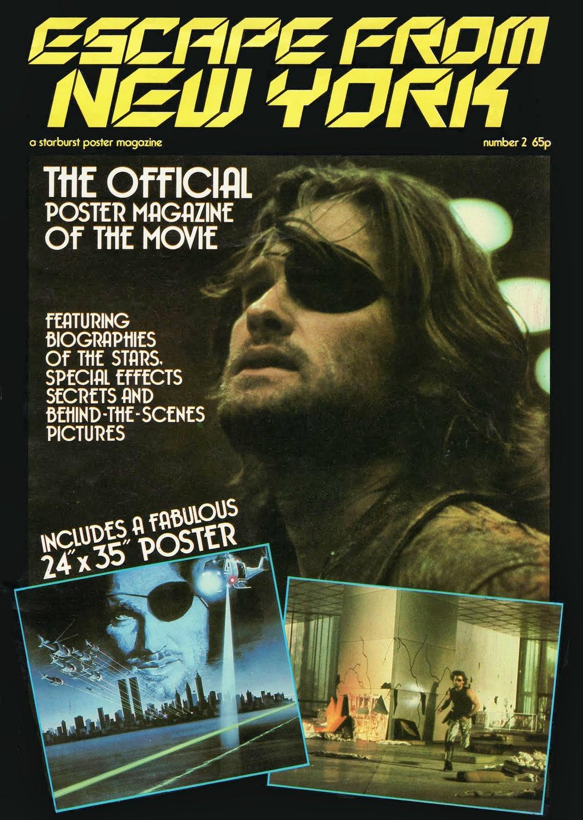 Escape From New York Poster.Futuro Finale 2088ad Escape From New York Poster Mag