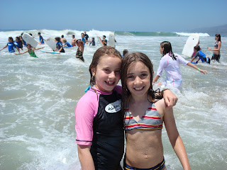 Making new friends at summer camp, Aloha Beach and Surf Camp, Los Angeles.