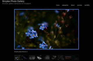 Simplex Photo Gallery Blogger Template