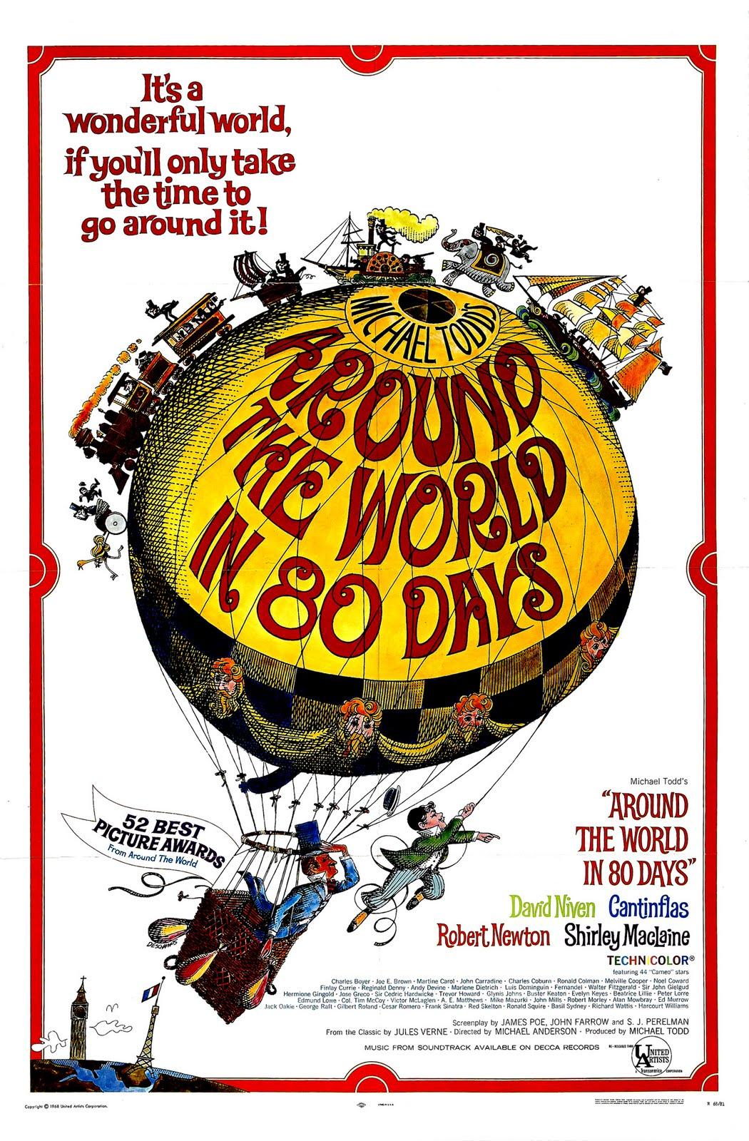 MOVIE POSTERS: AROUND THE WORLD IN 80 DAYS (1956