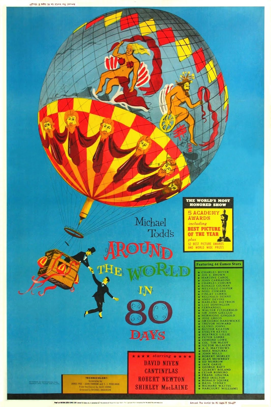 Around The World Fashion Publications: MOVIE POSTERS: AROUND THE WORLD IN 80 DAYS (1956