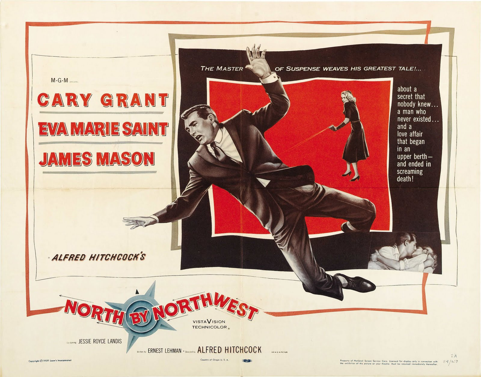 MOVIE POSTERS: NORTH BY NORTHWEST (1959)