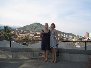With Allison, my first visitor in Colombia!, as we overlook Cali. (December 2009)