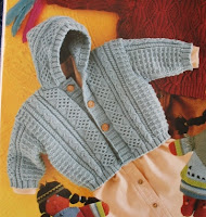 Book photo: Stephane hooded cardigan from Annie Blatt Creation Magazine #1