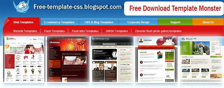 Web Templates Flash Free Css Template Monster