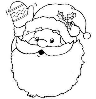 Rostos Do Papai Noel Para Colorir Desenhos E Riscos