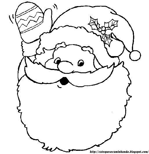 Rostos Do Papai Noel Para Colorir