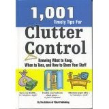 1,001 Timely Tips For Clutter Control