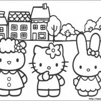 Coloring Pages For Kids Disney Hello Kitty And Friends Coloring Pages