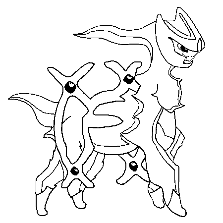 Pokemon Arceus Coloring Pages | Coloring Pages
