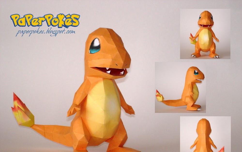 Papercraft Pokemon-Charizard - YouTube | 630x1000