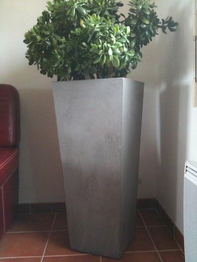 http top pot de fleur beton cire. Black Bedroom Furniture Sets. Home Design Ideas