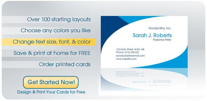 The Insiders Information: Free Design & Print Business Cards