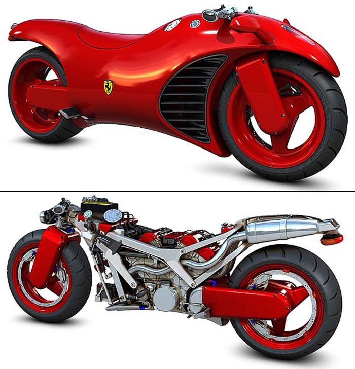 Ferrari Motorcycles: Cars New: Ferrari V4 Motorcycles