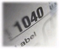 IRS Form 1040 - Top Corner