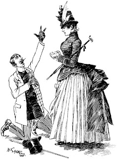 Wedding Proposal Caricature, 1885, Source: Utah State Law Library