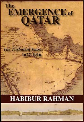 Front cover of the Emergence of Qatar: Shows an early map and picture of Qatar