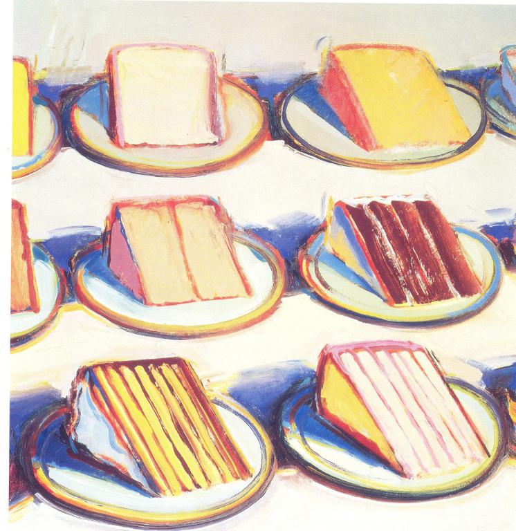 Wayne Thiebaud Birthday Cake