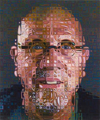 Chuck Close Self Portrait 1997