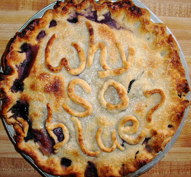 Why So Blue-berry Pie | www.girlichef.com
