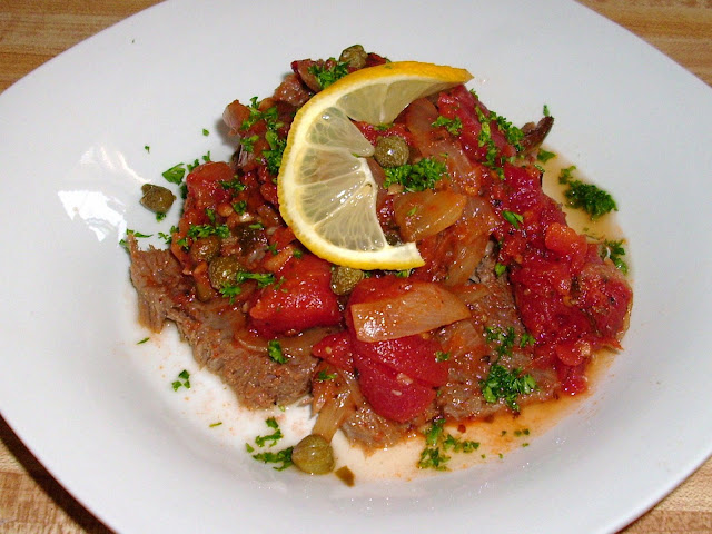 <b>Lengua a la Veracruzana</b> inspired by Kitchen Confidential #cookthebooks