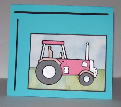 Susan Bluerobot: Think PINK (take you riding in my tractor)