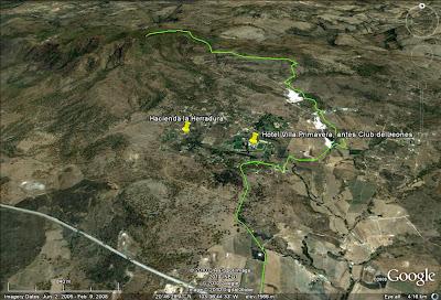Ruta de descenso del Cerro Los Bailadores